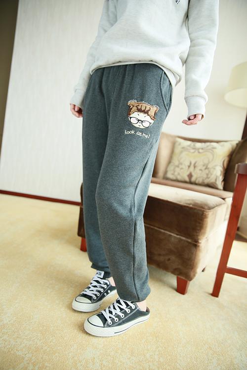 【眼睛小女孩运动裤】-衣服-休闲/运动裤