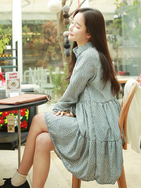 【文艺清新森系复古碎花连衣裙】-衣服-连衣裙_裙子
