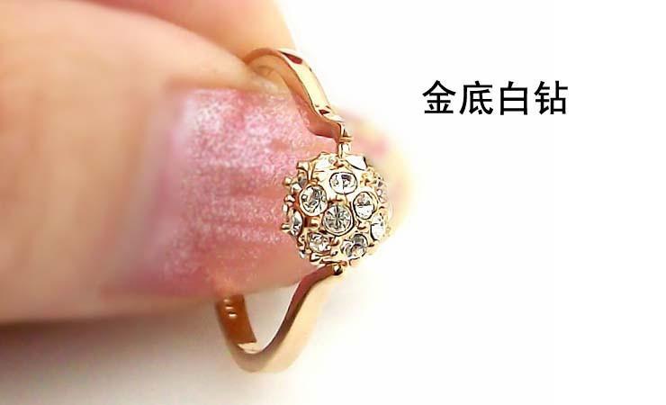 转运珠水晶戒指