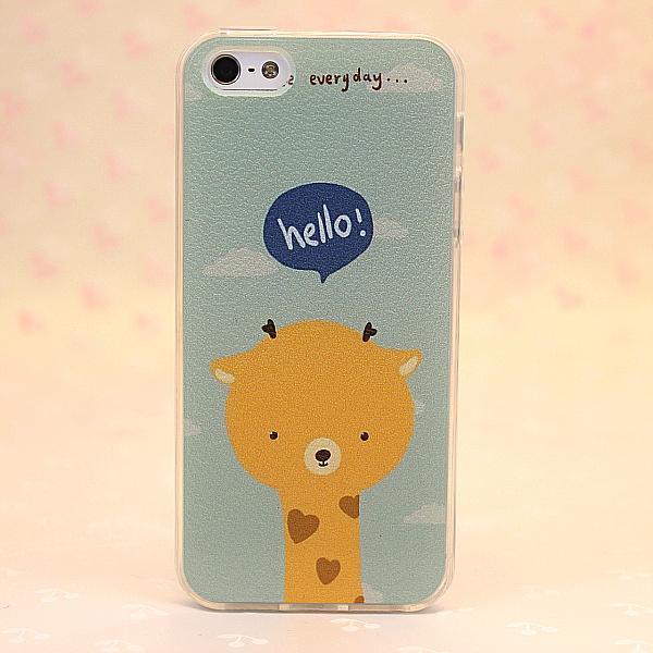 卡通可爱动物全包iphone手机壳