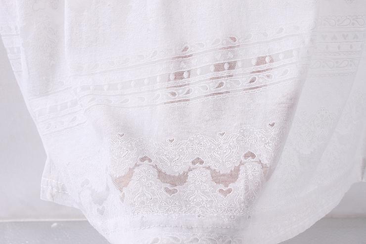 【小清新花纹白t】-衣服-服饰鞋包