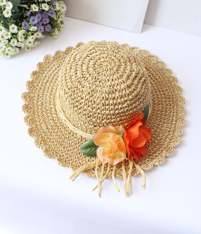 【镂空花朵太阳帽】-配饰-女士配饰_配饰_帽子_服饰
