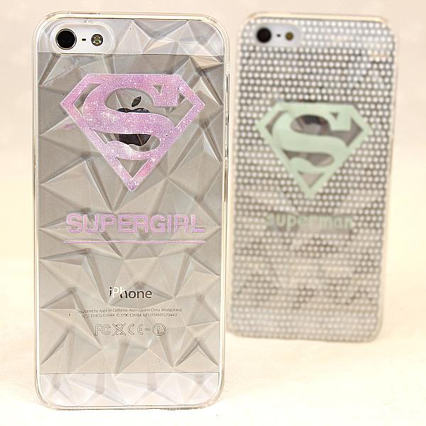 我的闲置#超人透明钻情侣iphone石纹手机壳带usb电源充电器图片