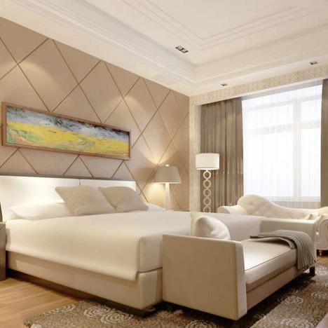 卧室床头电视沙发背景墙定制皮革绒布菱形欧式仅售