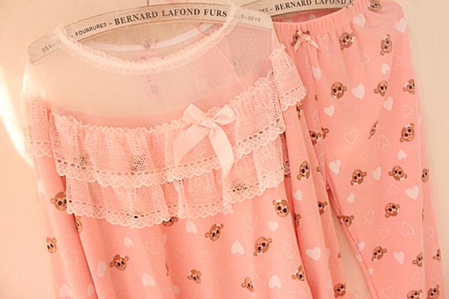 【2015新款清新甜美可爱睡衣家居服】-内衣-女士内衣