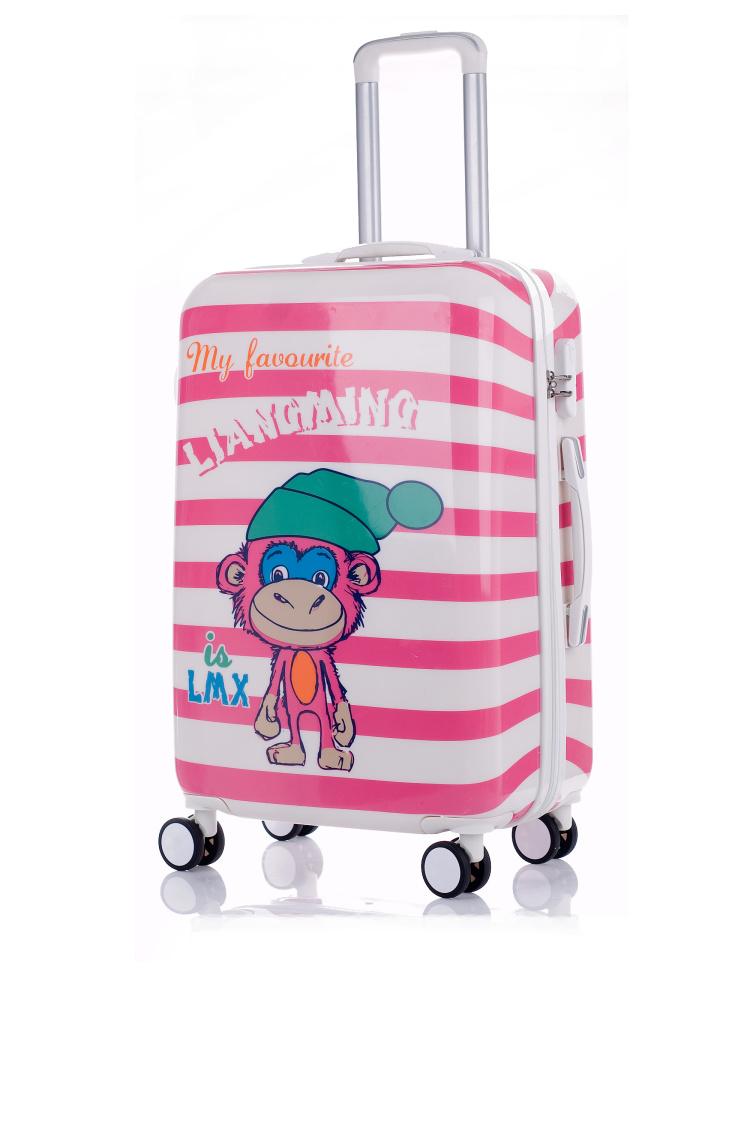 【新款pc猴子镜面飞机轮24寸旅行箱】-包包-旅行箱包