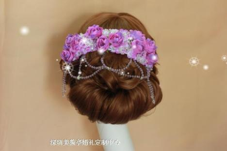 新娘头饰手工制作水晶头花韩式新娘