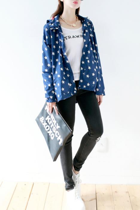 【五角星连帽外套】-衣服-服饰鞋包