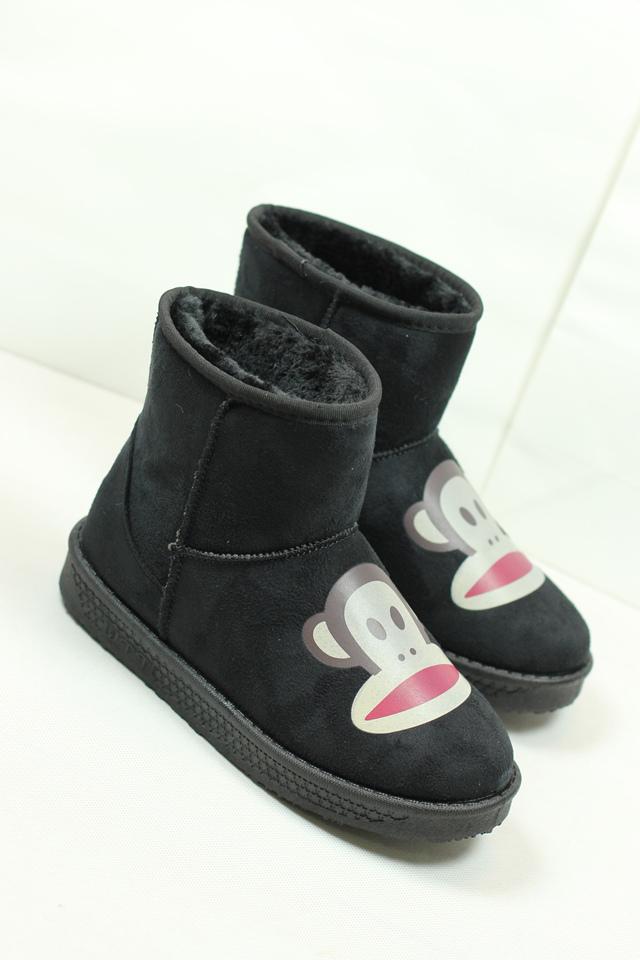 【可爱卡通大嘴猴雪地靴】-鞋子-雪地靴