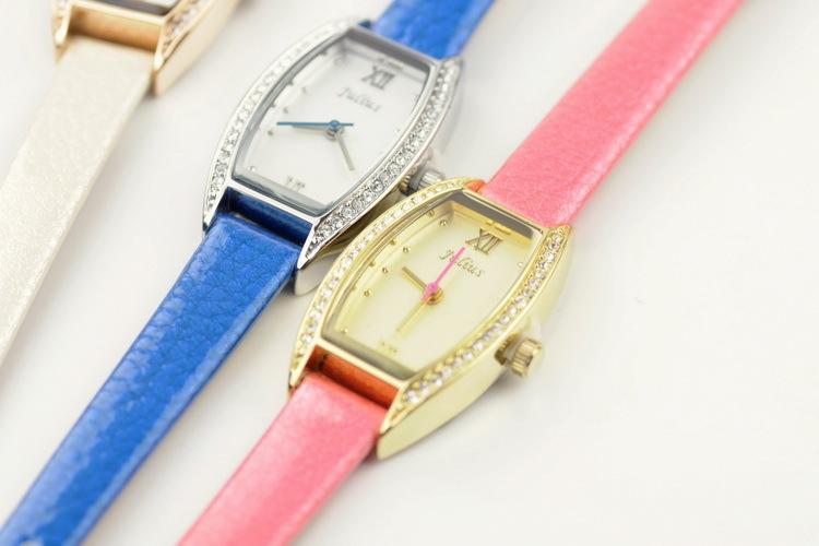 【聚利时简约小酒桶皮带气质手表】-配饰-手表