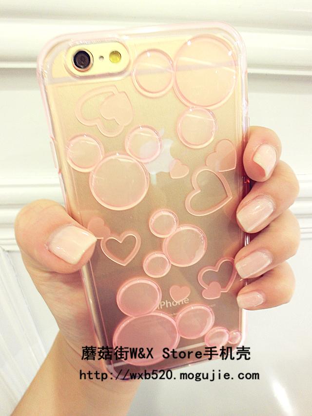 可爱透明米妮iphone6/5s手机壳