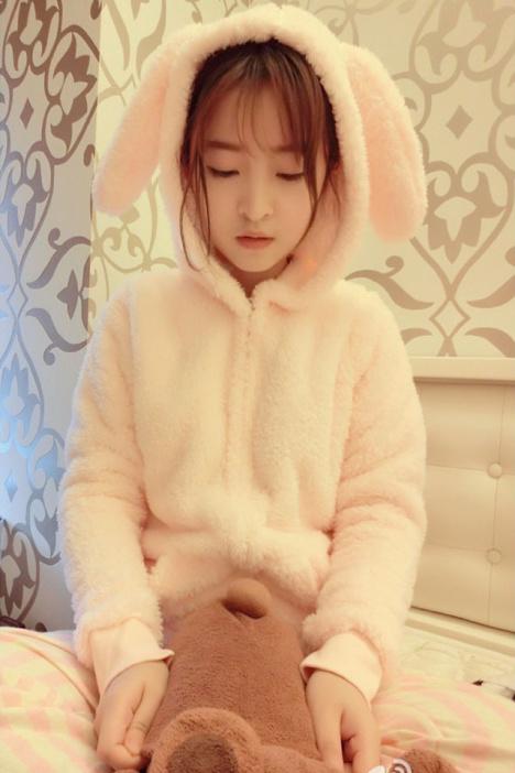 【日系可爱兔耳朵萌宠睡衣套装】-衣服-女士内衣
