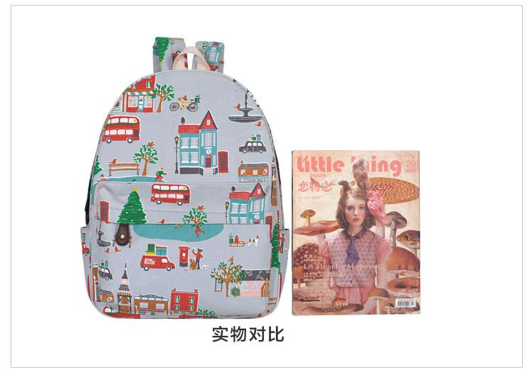 【森小鹿】小清新手绘童话双肩包