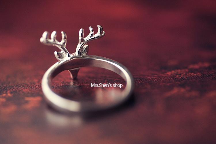沈太太925纯银麋鹿系列戒指