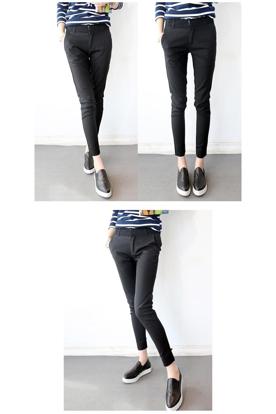 九分裤女小脚裤蘑菇街