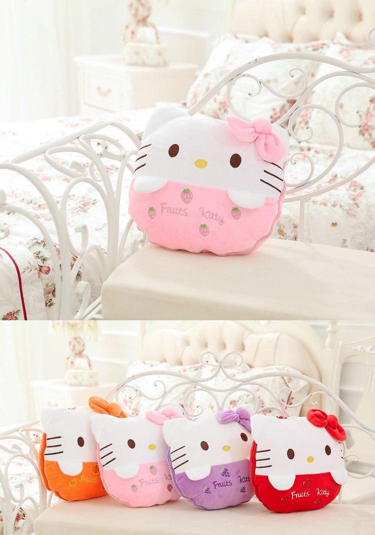 可爱kt猫水果纯棉空调被