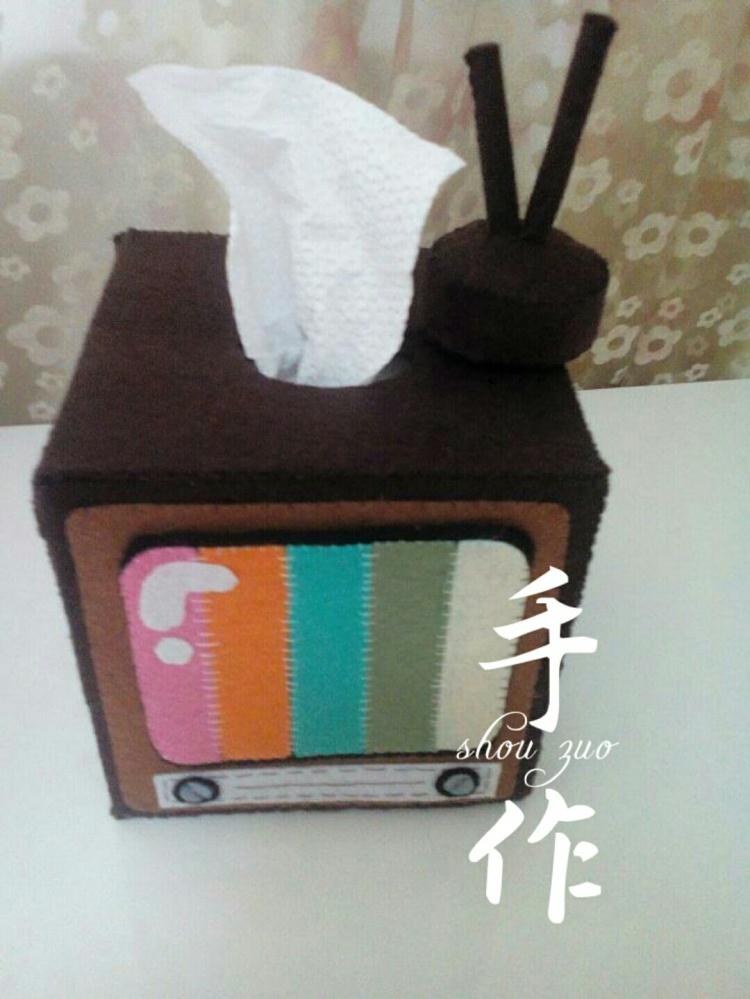 【电视机抽纸盒~纯手工制作