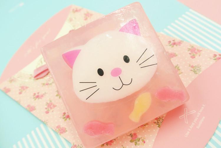 萌萌哒卡通小动物创意水晶皂