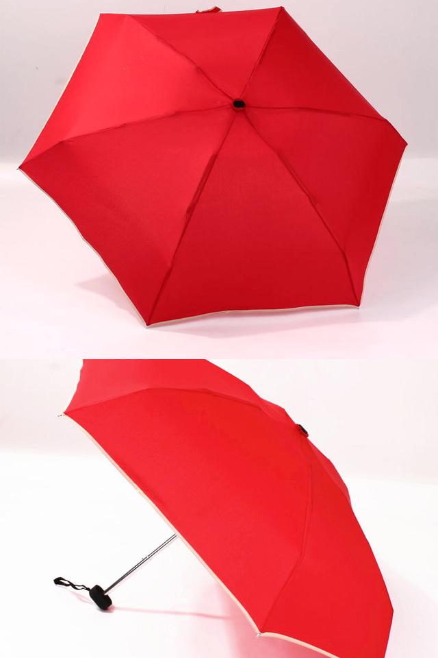 【防风原单超轻小扁五折伞晴雨伞】-家居-百货