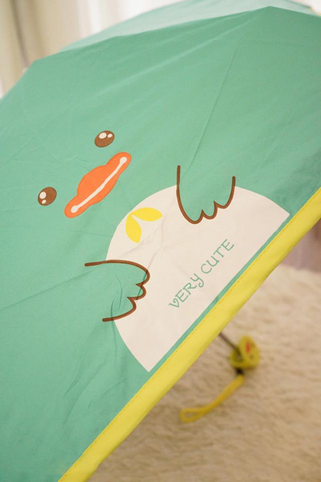 超萌卡通小动物防紫外线折叠雨伞