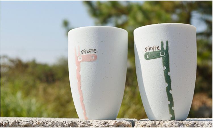 景德镇手绘陶瓷磨砂水杯