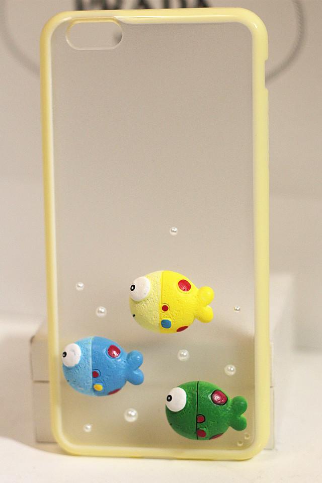 【iPhone6/6plus 可爱小鱼手机套】-null-3C数码配件_手机配件_手机保护套/壳_手机数码-糖果社-蘑菇街优店