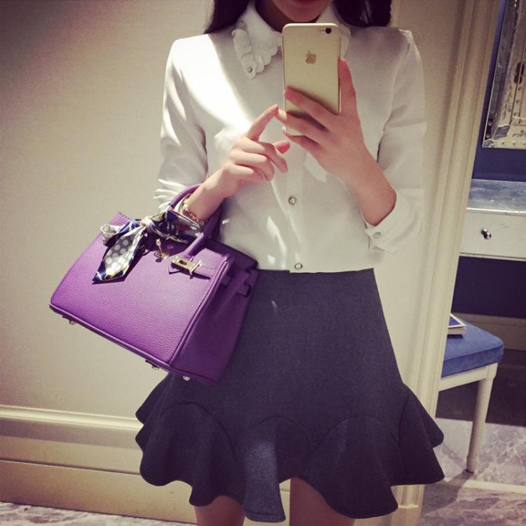 【韩版水钻圈圈花朵领衬衣】-衣服-服饰鞋包
