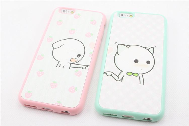可爱小猫咪 硅胶 苹果手机壳