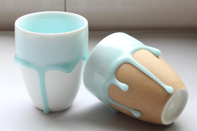 商品描述 手工制作!每个杯子的流釉都是独一无二的,才是最有心意的.