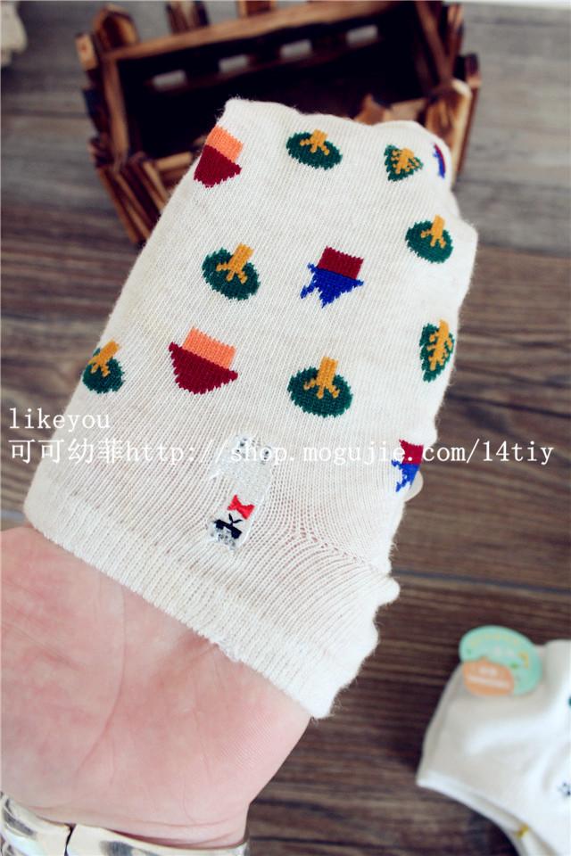 【likeyou】两双装圣诞树袜子