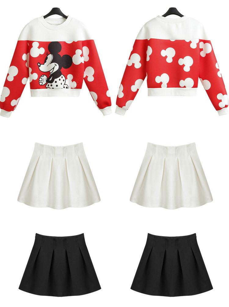 可爱米老鼠短款蓬蓬裙套装