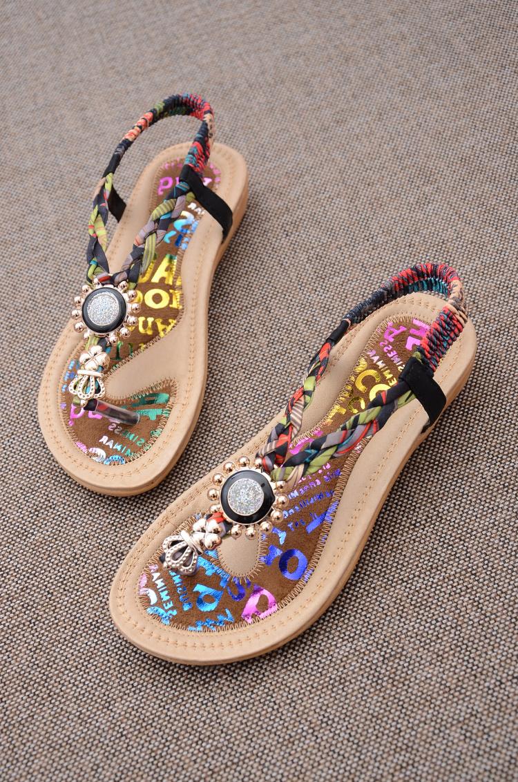 【缤纷色彩波西米亚风编织凉鞋】-鞋子-女鞋_凉鞋_鞋