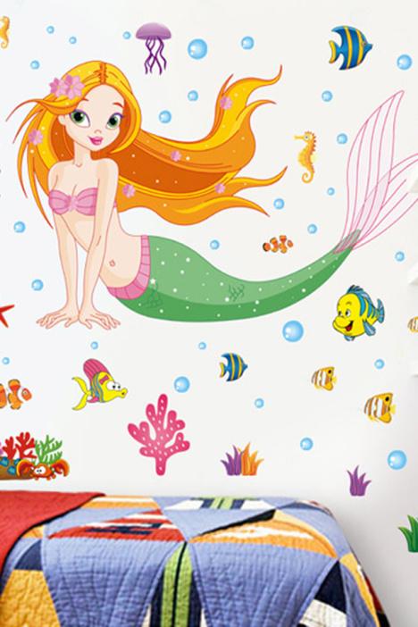 美人鱼儿童简笔画图片大全带颜色