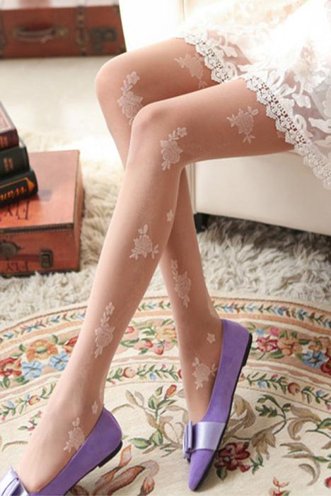 雕花丝袜,袜子,女袜,夏季,薄款丝袜,显瘦,新款,韩版,复古,小清新,学院