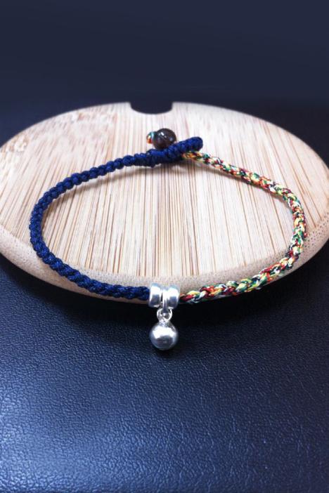 个性手工编绳铃铛手链