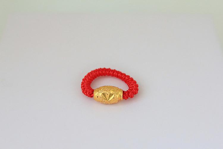 转运珠红绳戒指