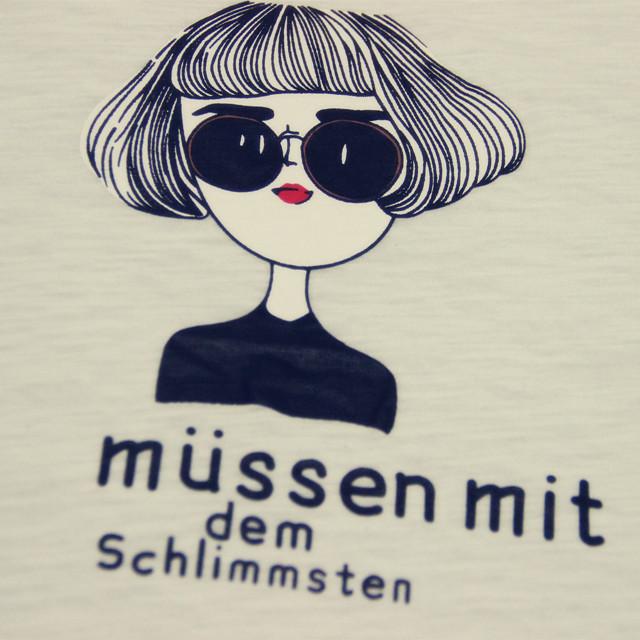 卡通眼镜女孩t恤-来自蘑菇街优店