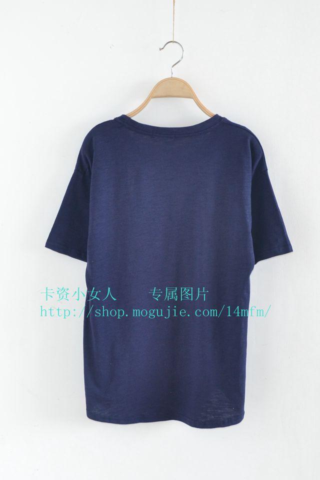 【韩国简笔画小鸭子印花短袖t恤】-衣服-服饰鞋包