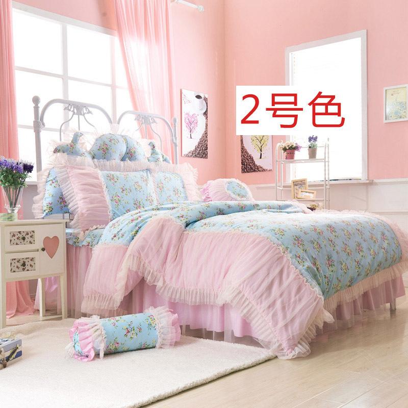城堡公主 纯棉床品四件套整体款式图片