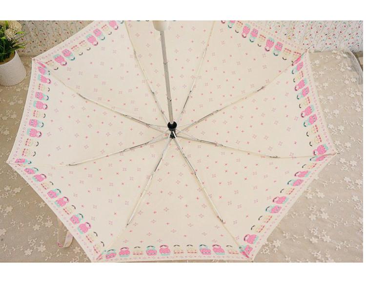 可爱小清新娃娃晴雨伞
