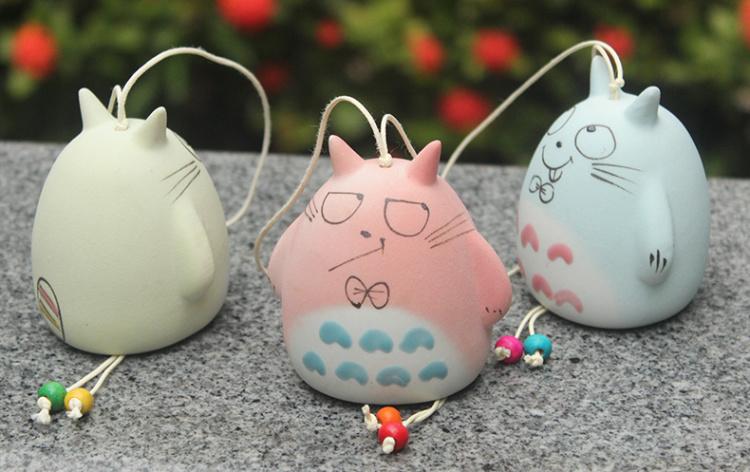 【2个装】 宫崎骏龙猫陶瓷风铃
