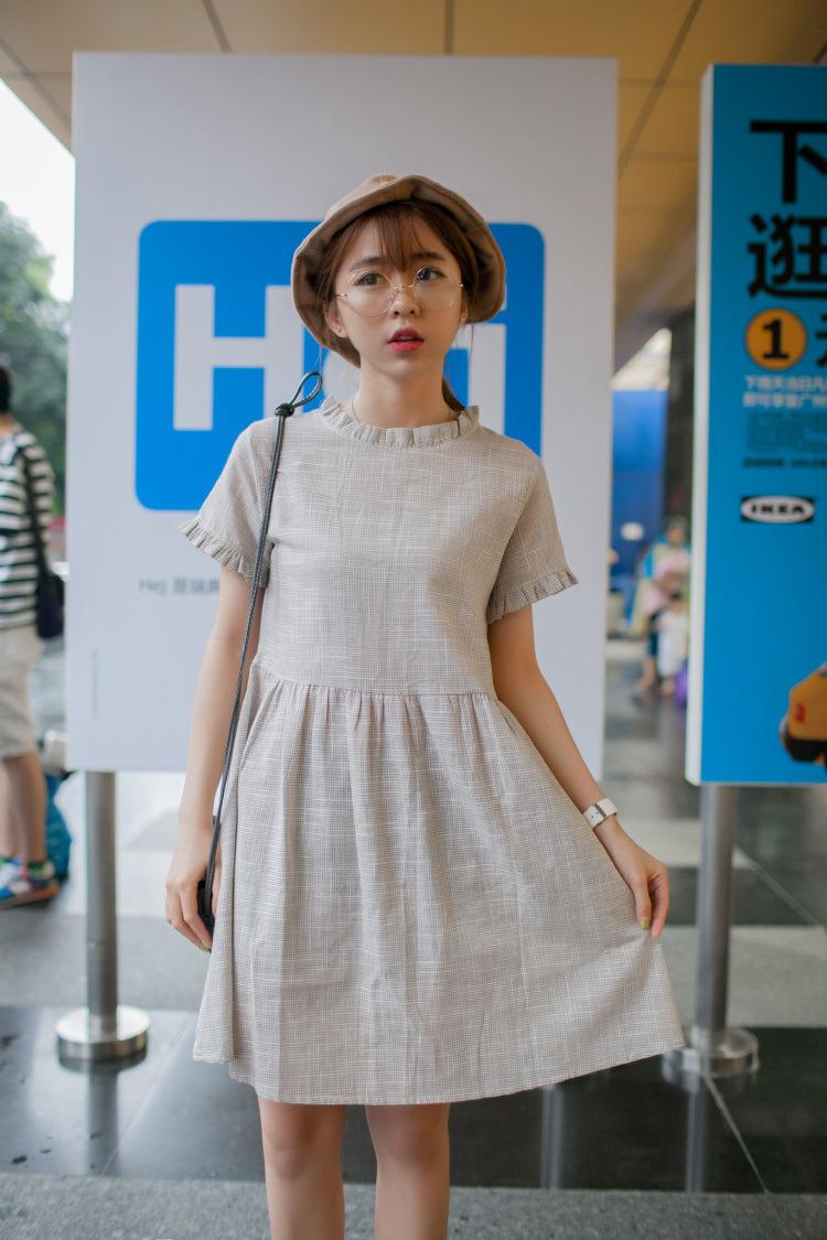 【舒适棉麻文艺范儿连衣裙】-衣服-连衣裙_裙子_女装