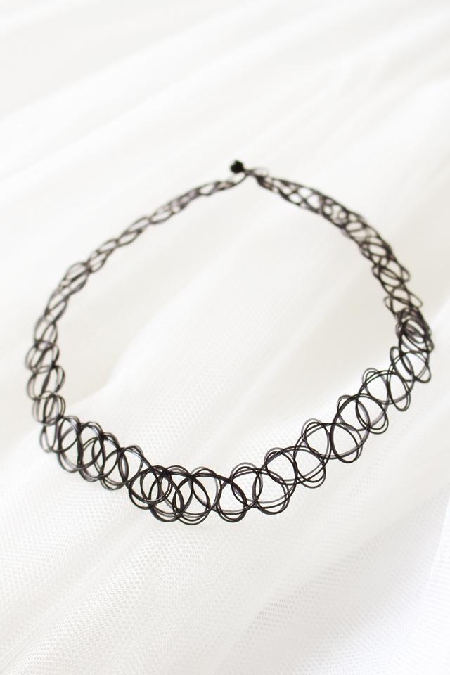 欧美纹身编织鱼线 项圈手链戒指