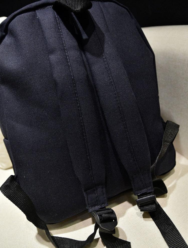 【搞怪猫咪帆布双肩包】-包包-双肩包