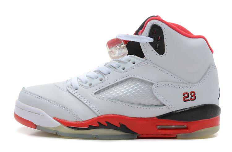 【乔5代白黑红篮球鞋】-鞋子-运动鞋