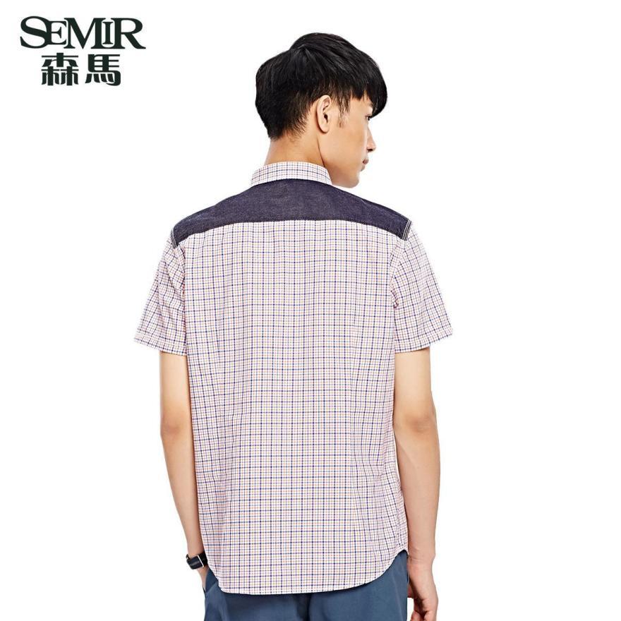 森马男装夏装新款短袖衬衫 男士图片