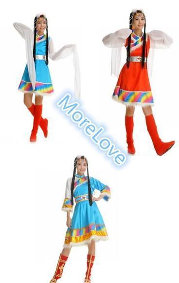 2015新款蒙古舞蹈服演出服女装少数民族表演服装藏族舞蹈演出服装