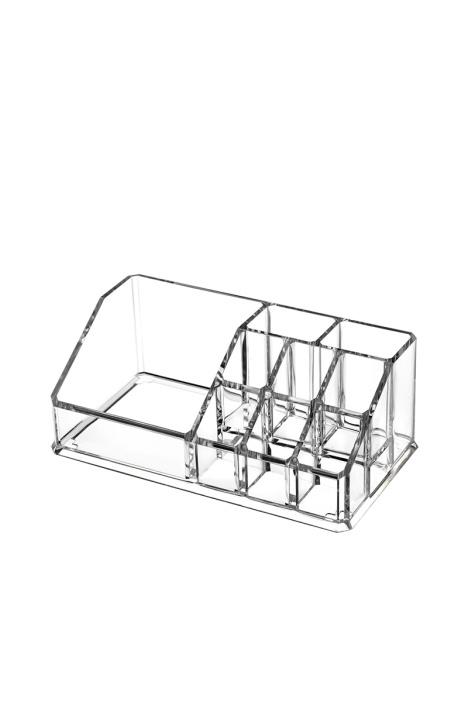 蘑菇优选 亚克力收纳盒创意首饰盒透明桌面化妆品小号整理盒