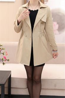 中年女式短款风衣外套_短款中年风衣