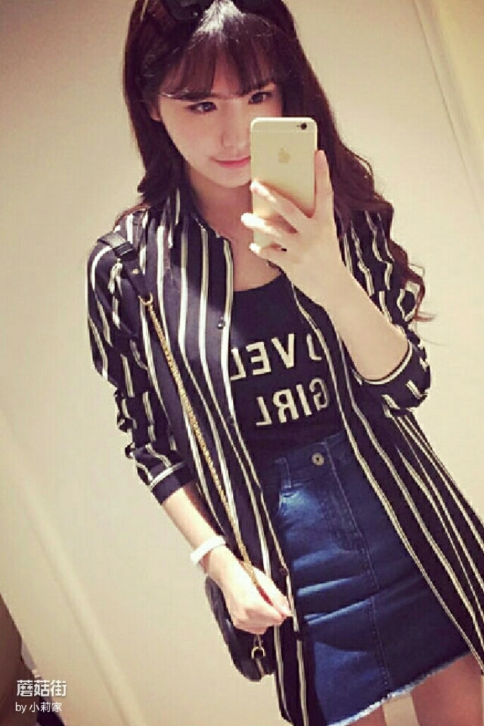 我的女���+�.gyl.x�K����_韩版条纹长款衬衫